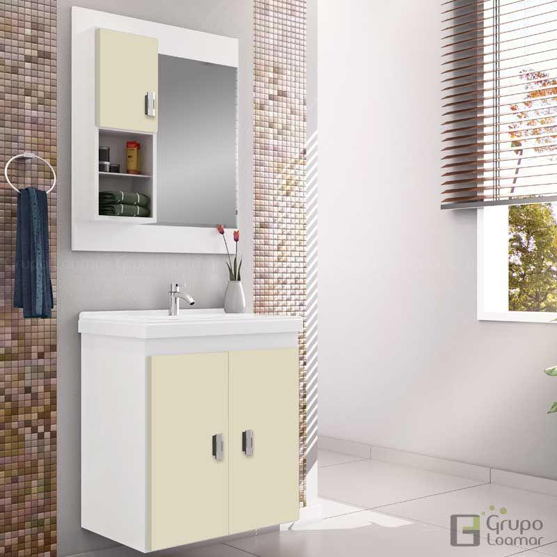 Conjunto Para Banheiro Ficus 50 com Cuba, Cozimax  BrancoBiscuit para Banhe -> Cuba Banheiro Biscuit